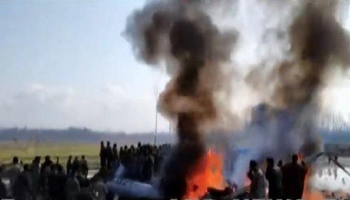 लड़ाकू विमान बडगाम में क्रैश