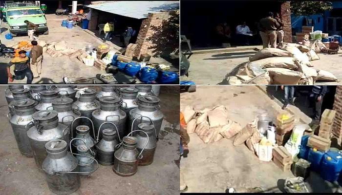 रामपुर में दूध फैक्ट्री का भंडाफोड़