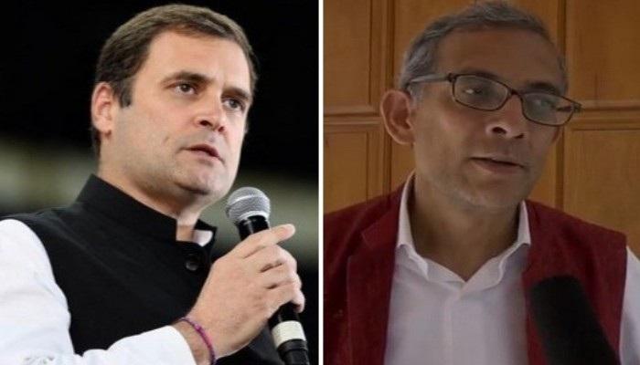 राहुल गांधी और अभिजीत बनर्जी की चर्चा