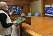 पीएम नरेंद्र मोदी की वीडियो कांफ्रेंसिंग