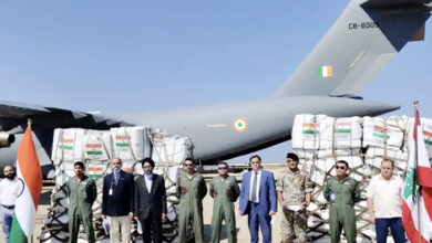 India sent emergency help to Lebanon