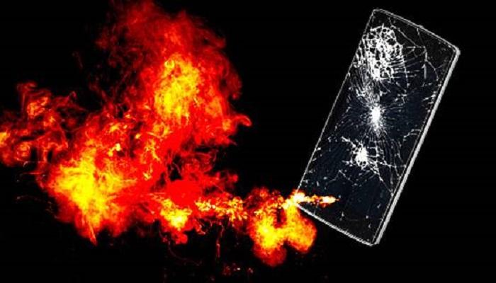 मोबाइल में विस्फोट