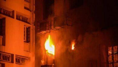 बहुमंजिला इमारत में आग