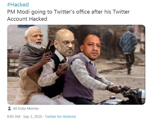 Memeers took a jibe about PM Modi's account hack, said that it is a punishment to ban PUBG