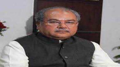 केंद्रीय कृषि मंत्री नरेंद्र सिंह तोमर