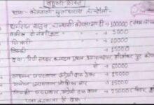 यूपी के एक थाने की वसूली सूची वायरल up police mugalsrai kotwali vasuli list