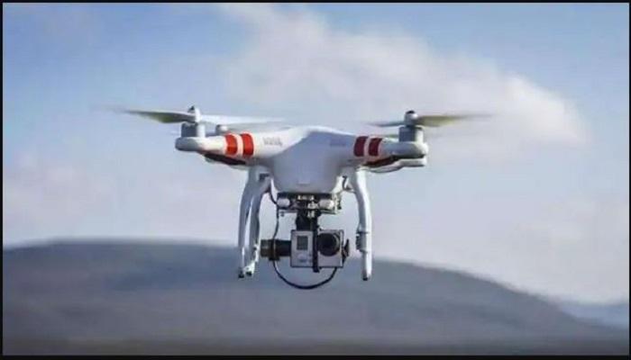 पाक आर्मी का क्वाडकॉप्टर मार गिराया Pak Army's quadcopter shot down