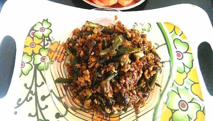 bhindi soya kima