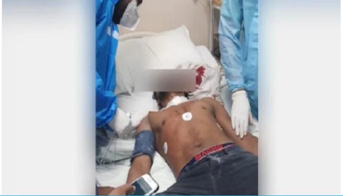 युवक ने मेरठ कोतवाली में काटी अपनी गर्दन injured-man Meerut Kotwali