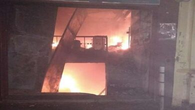Fierce fire in perfume warehouse