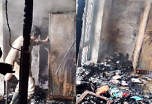 Fire in Jankipuram house