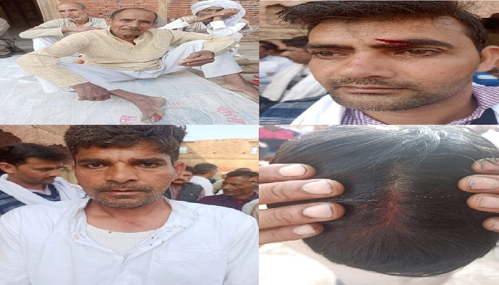 Clash between farmers and BJP workers