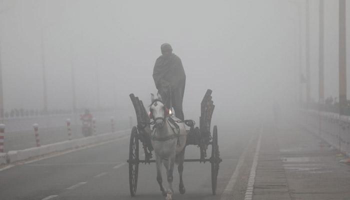 जम्मू में कोहरे चादर में लिपटा fog wrapped in Jammu