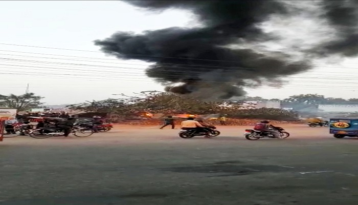 Explosion in small cylinde