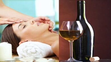 red wine facial