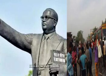 Baba Ambedkar's statue was broken