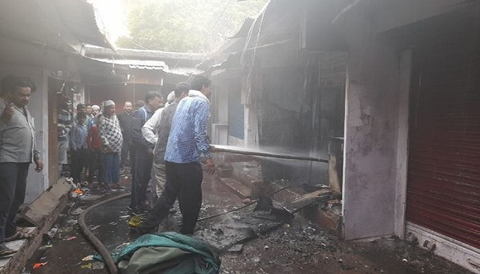 fire broke out in a clothes shop