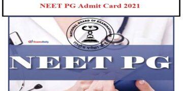 NEET PG admit card