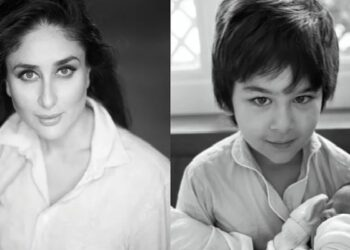 Kareena Kapoor showed her young son's face on Mother's day