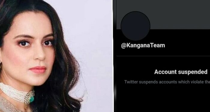 Kangana Ranaut's Twitter account suspended, alleges violation of rules