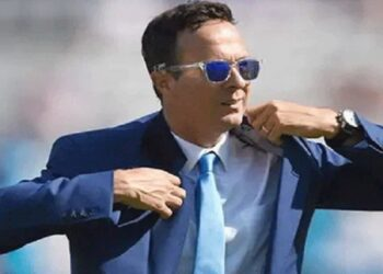 Michael Vaughan, former captain of the English team, once again tightened