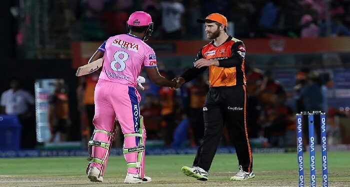 Hyderabad won the toss and invited Rajasthan to bat first