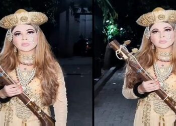 Controversial queen Rakhi Sawant turns out to be Bajirao, people troll