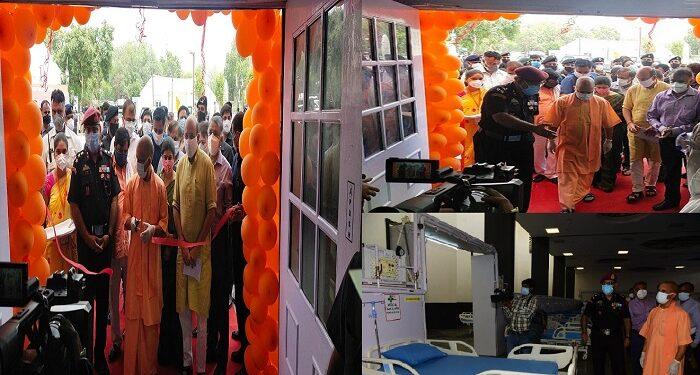 CM Yogi inaugurates DRDO's Covid Hospital