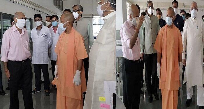CM Yogi inspects Covid ward