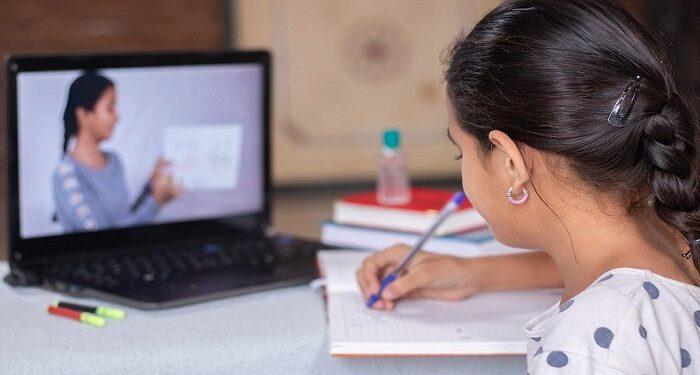 Children not happy with online studies