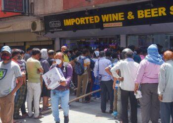 Liquor shops opened