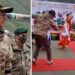 Akshay Kumar was seen having fun with the soldiers