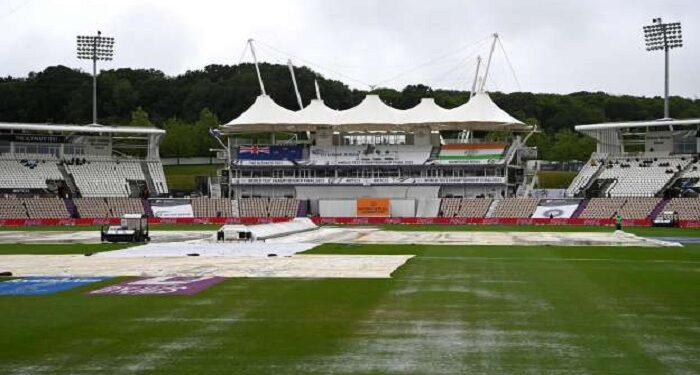 The rain did not stop on the first day of WTC final match, the match was postponed