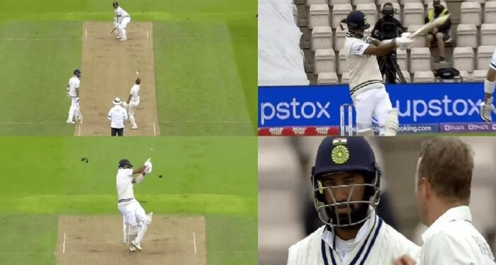 Pujara narrowly escaped ball of fast bowler Neil Wagner