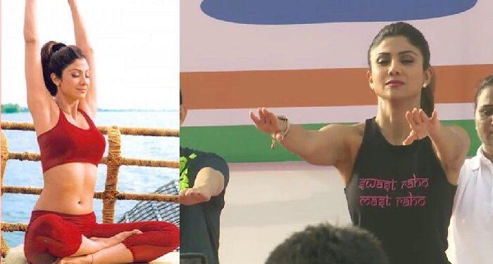 fitness goddess shilpa shetty shared pictures on international yoga day