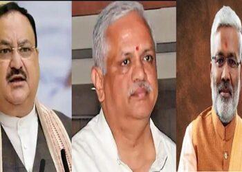 Swatantradev and BL Santosh met JP Nadda