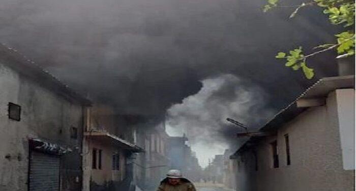 fire in shoe factory