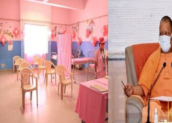 pink booth for vaccination