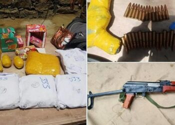 Army recovered heroin worth 30 crores along with AK-47