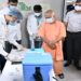 CM Yogi inspects vaccination center