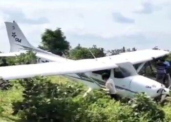 Trainee pilot lost control