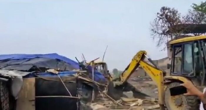 Rohingya camp demolished
