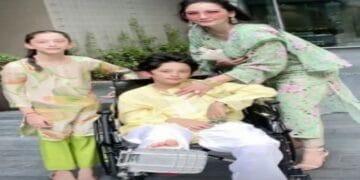 संजू बाबा के बेटे शाहरान व्हीलचेयर पर