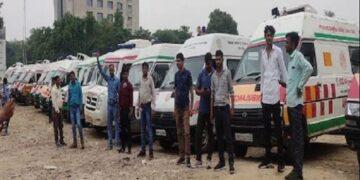 Ambulance drivers' strike
